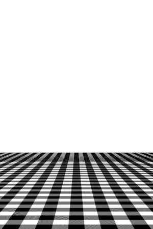 Motif vichy noir. Texture à partir de losanges / carrés pour - plaid, nappes, vêtements, chemises, robes, papier, literie, couvertures, couettes et autres produits textiles. Illustration vectorielle.