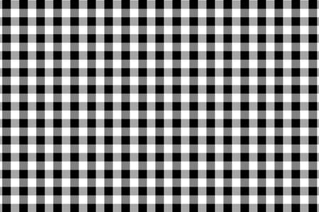 Black Gingham pattern. Texture from rhombus/squares for - plaid, tablecloths, clothes, shirts, dresses, paper, bedding, blankets, quilts and other textile products. Vector illustration. Banque d'images - 110182753