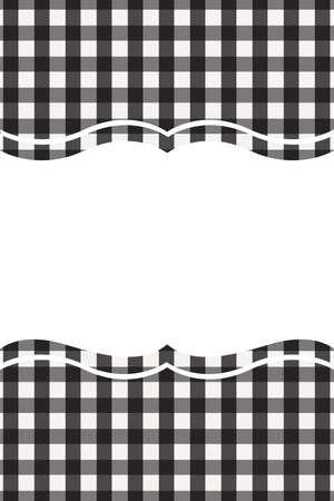 Black Gingham pattern. Texture from rhombussquares for - plaid, tablecloths, clothes, shirts, dresses, paper, bedding, blankets, quilts and other textile products. Vector illustration.