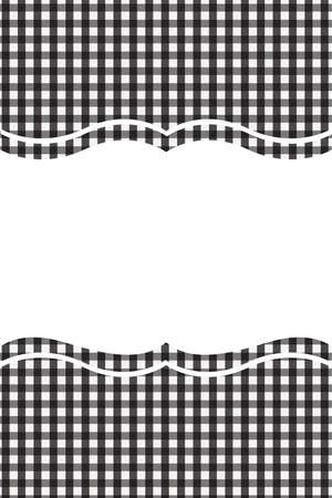 Black Gingham pattern. Texture from rhombus/squares for - plaid, tablecloths, clothes, shirts, dresses, paper, bedding, blankets, quilts and other textile products. Vector illustration.
