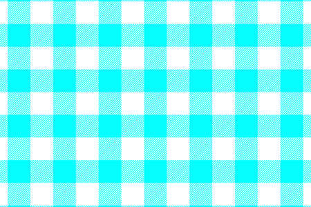 Aqua Gingham seamless pattern. Texture from rhombussquares for - plaid, tablecloths, clothes, shirts, dresses, paper, bedding, blankets, quilts and other textile products. Vector illustration. Illustration