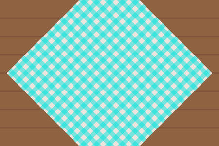 Aqua Gingham pattern. Texture from rhombussquares for - plaid, tablecloths, clothes, shirts, dresses, paper, bedding, blankets, restaurant menu, quilts and other textile products. Vector illustration.