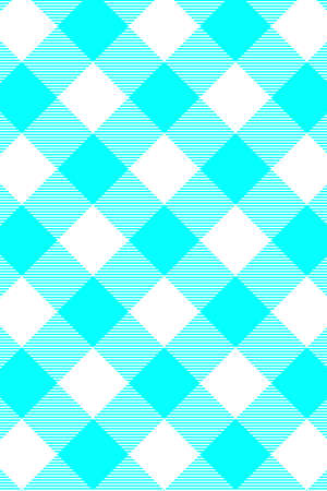 Aqua Gingham seamless pattern. Texture from rhombus/squares for - plaid, tablecloths, clothes, shirts, dresses, paper, bedding, blankets, quilts and other textile products. Vector illustration. Vectores