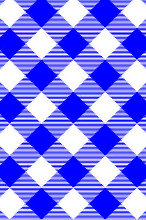Blue Gingham seamless pattern. Texture from rhombus/squares for - plaid, tablecloths, clothes, shirts, dresses, paper, bedding, blankets, quilts and other textile products. Vector illustration.