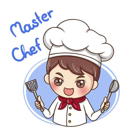 Illustrator of Male Chef cartoon