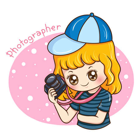 Illustrator of Photographer cartoon Ilustracja