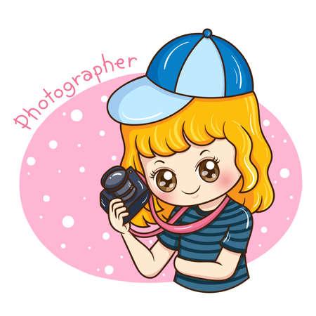 Illustrator of Photographer cartoon Illustration