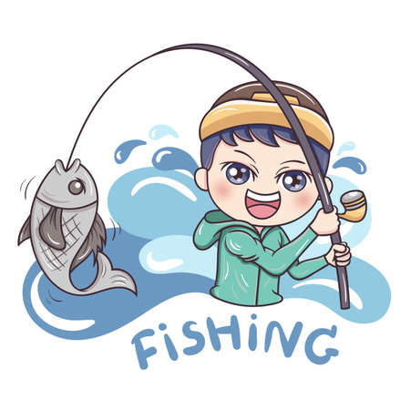 Illustrator of Fisherman cartoon