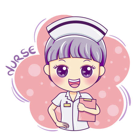 Illustration of cartoon character nurse Illusztráció