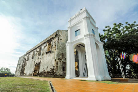 MALACCA, MALAYSIA - July, 2017 : A fortress in Malacca. The remaining part of the ancient fortress of Malacca