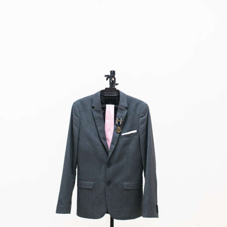 KUALA LUMPUR, MALAYSIA - AUGUST 3rd, 2017 : H&M Blazer limited Edition isolated with white background. This blazer wear for wedding and dinner. Редакционное