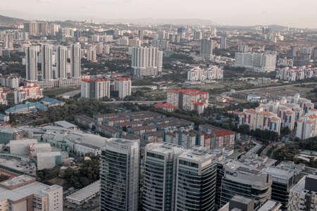 Top view of Kuala Lumpur at evening. Kuala Lumpur is the most beautiful urban place in Malaysia.