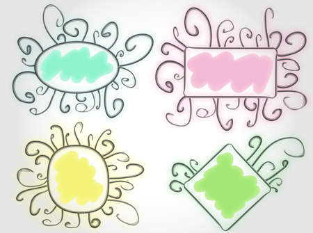 funny colorful vector frames with a place for text Vector