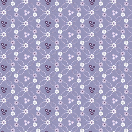 Seamless vector textile floral background with blue flowers Stock Vector - 12275387