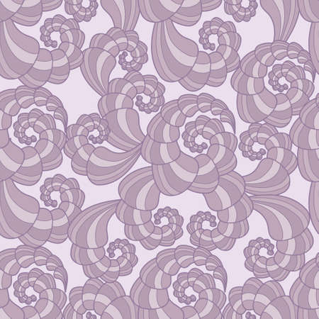 Beautiful vector seamless pattern with violet spirals Stock Vector - 12275394