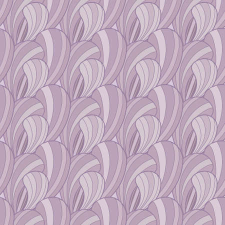 Beautiful violet abstract vector seamless pattern with petals Vector