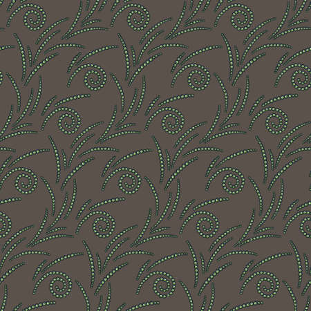 Vector seamless pattern of cute green beds Vector