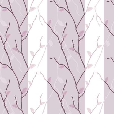 ベクトルのエレガントなピンクの枝のシームレスなテクスチャ  イラスト・ベクター素材