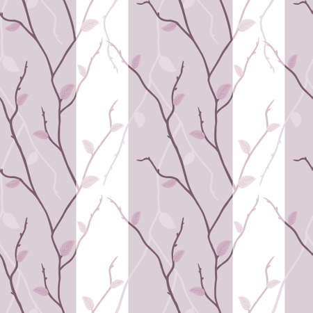 Vector seamless texture of elegant pink branches Vector