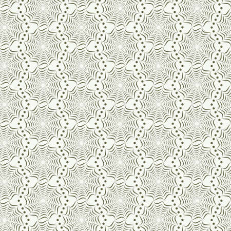 Seamless spider web pattern green on white Vector
