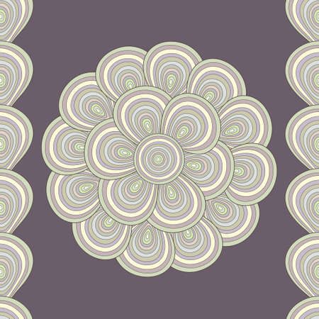 seamless abstract background with flower of shells Vector