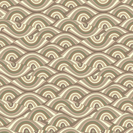 nautilus shell: seamless abstract background with ornament like eyes Illustration