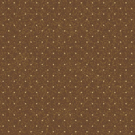 seamless red polka-dotted background with beige dots Vector