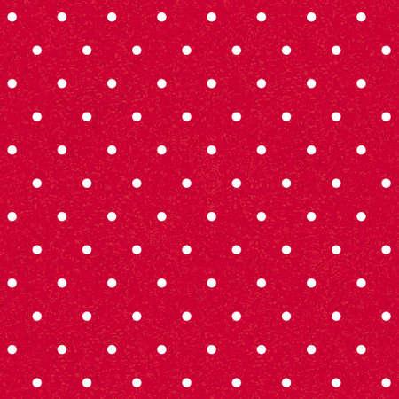 シームレスな赤水玉の背景に白のドット