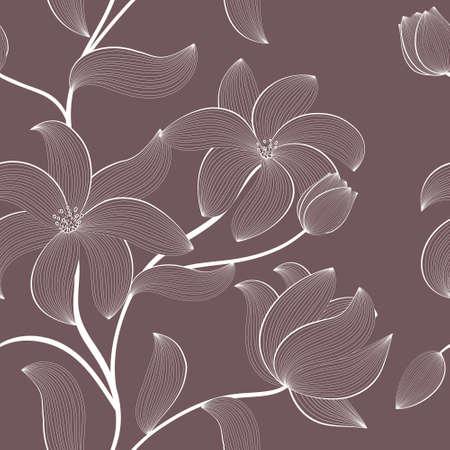 cute wallpaper: patr�n floral sin fisuras con flores dibujadas a mano