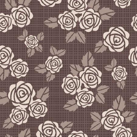 ベージュ色のバラの美しいシームレスな背景