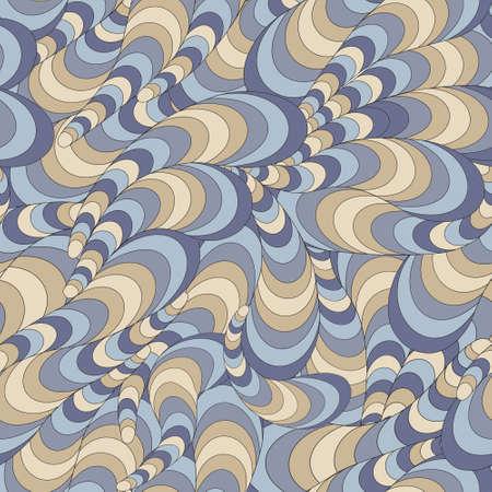 まんじとシームレスな抽象的な波状パターン ベクトル