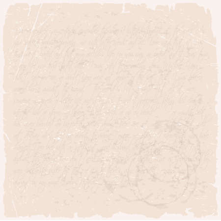 Vector grunge texture of a letter on beige old paper Vector