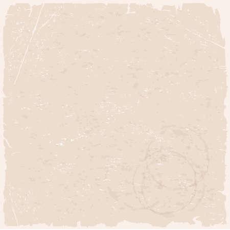 Vector grunge texture of beige old paper Vector