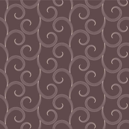 Vector seamless pattern with white elegant swirls Vector