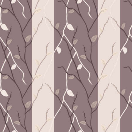 Vector seamless texture of elegant dark and light branches Vector