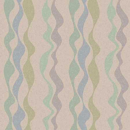 Vector retro seamless wave pattern in pastel colors Stock Vector - 13410130