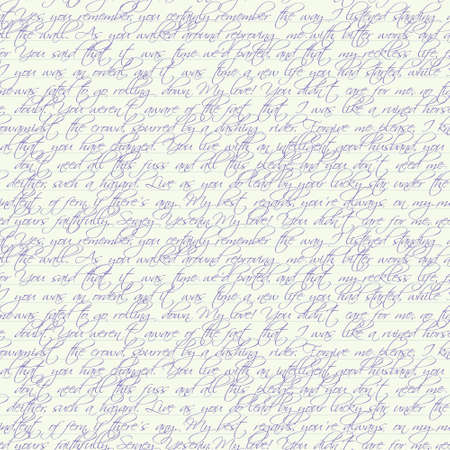 ペンで書かれたテキストとのシームレスなベクターのページ