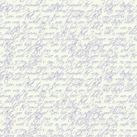 poezie: Naadloze vector pagina met tekst geschreven door pen