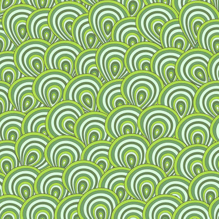peacock feather pattern in green colors Vector