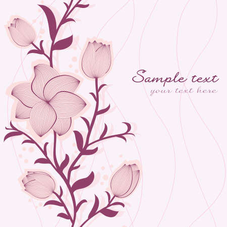 floral seamless pattern with hand-drawn flowers Stock Vector - 13965746