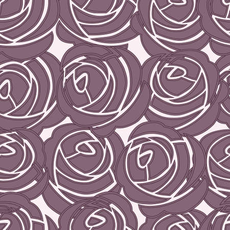 Beautiful seamless violet pattern with roses Stock Vector - 14292579