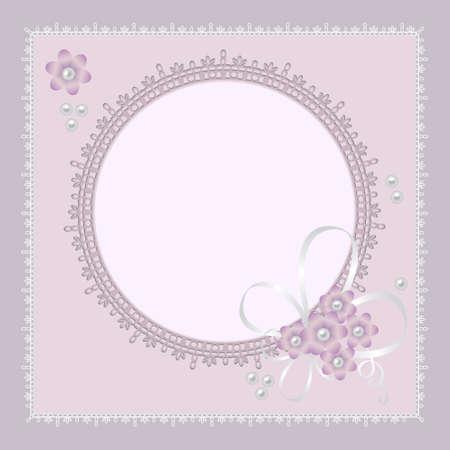 violeta: fondo de encaje adornado para la invitaci�n o anuncio