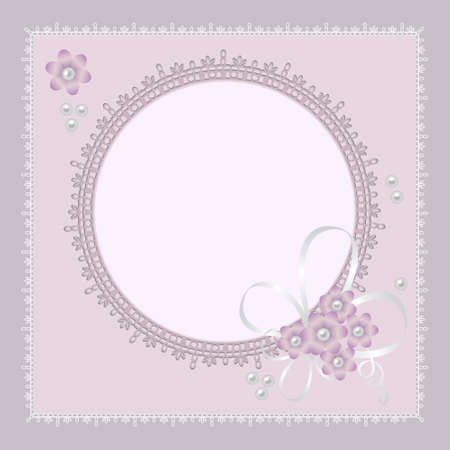 violet: ornate lace background for invitation or announcement