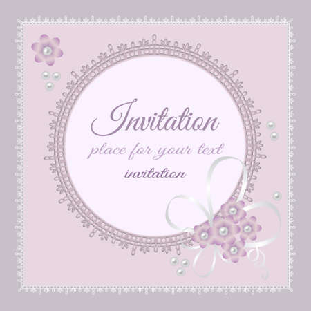 royal frame: ornate lace background for invitation or announcement