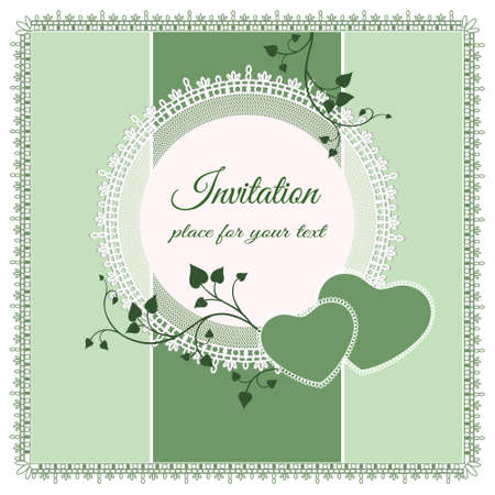 ornate lace background for invitation or announcement Vector