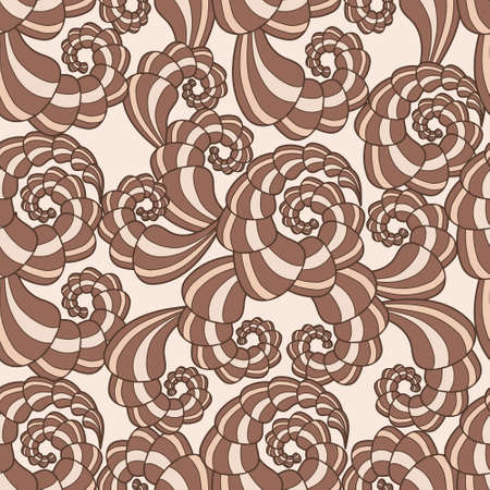 Beautiful vector seamless pattern with brown spirals Stock Vector - 14416472