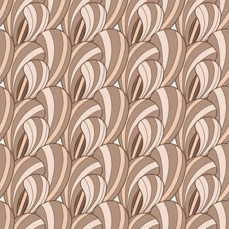 Beautiful brown abstract vector seamless pattern with petals Vector