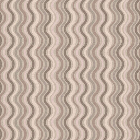 Vector retro seamless wave pattern in brown colors Stock Vector - 14416479