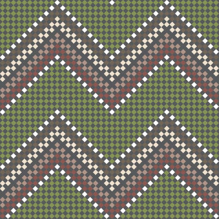 Seamless embroidered handmade ethnic geometric pattern Vector