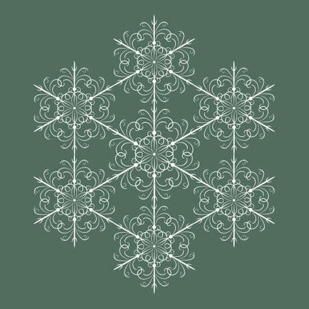 Seamless snowflakes background with vintage snowflakes Stock Vector - 16243918